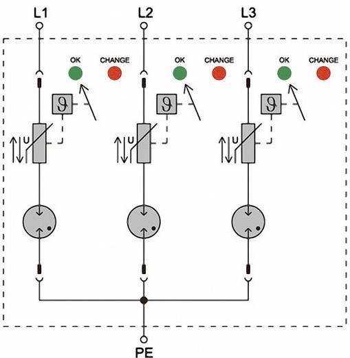 Überspannungsschutz-Ableiter Überspannungsschutz für: Verteilerschrank Weidmüller VPU II 3 LCF 280V/40kA 1352790000 20