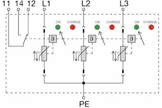 Überspannungsschutz-Ableiter Überspannungsschutz für: Verteilerschrank Weidmüller VPU II 3 R 400V/40kA 1352890000 20 kA