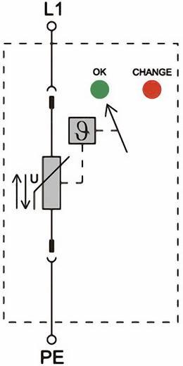 Überspannungsschutz-Ableiter Überspannungsschutz für: Verteilerschrank Weidmüller VPU II 1 400V/40kA 1352830000 20 kA