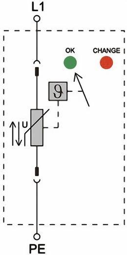 Überspannungsschutz-Ableiter Überspannungsschutz für: Verteilerschrank Weidmüller VPU II 1 150V/40kA 1352470000 20 kA