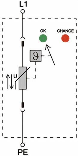 Weidmüller VPU II 1 150V/40kA 1352470000 Überspannungsschutz-Ableiter Überspannungsschutz für: Verteilerschrank 20 kA