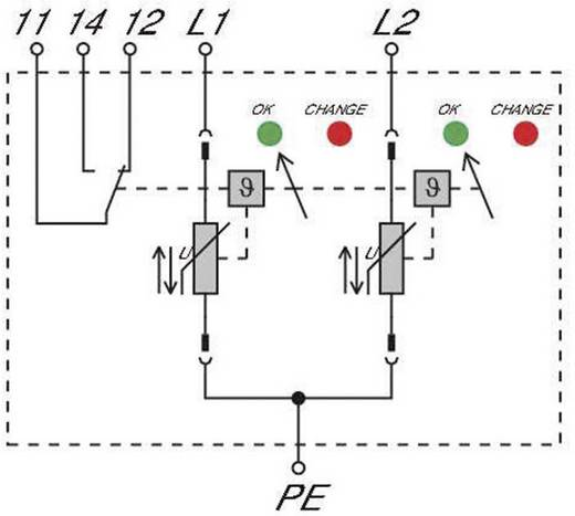 Weidmüller VPU II 2 R 150V/40kA 1352500000 Überspannungsschutz-Ableiter Überspannungsschutz für: Verteilerschrank 20 kA