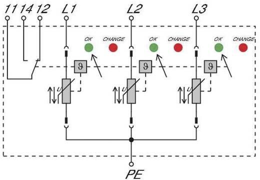 Überspannungsschutz-Ableiter Überspannungsschutz für: Verteilerschrank Weidmüller VPU II 3 R 150V/40kA 1352530000 20 kA