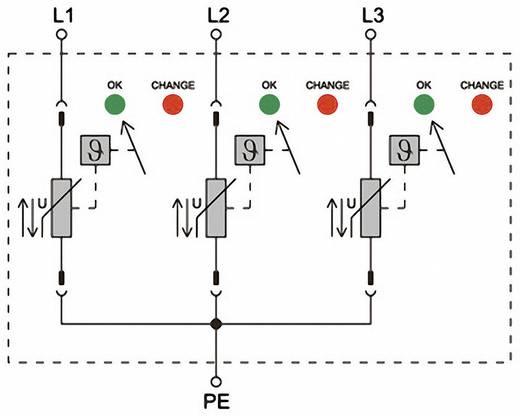 Weidmüller VPU II 3 R 600V/40kA 1353000000 Überspannungsschutz-Ableiter Überspannungsschutz für: Verteilerschrank 12.5
