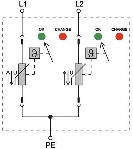 Weidmüller VPU II 2 600V/40kA 1352970000 Überspannungsschutz-Ableiter Überspannungsschutz für: Verteilerschrank 12.5 kA