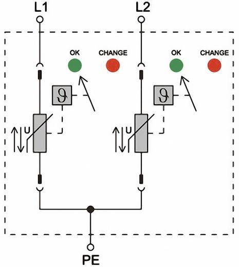 Überspannungsschutz-Ableiter Überspannungsschutz für: Verteilerschrank Weidmüller VPU II 2 R 600V/40kA 1352980000 12.5