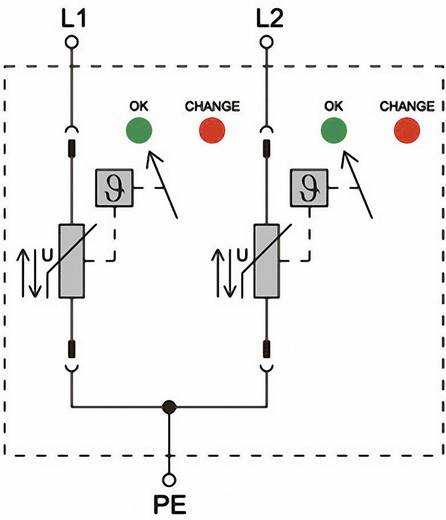 Weidmüller VPU II 2 75V/40kA 1352430000 Überspannungsschutz-Ableiter Überspannungsschutz für: Verteilerschrank 15 kA