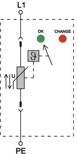Überspannungsschutz-Ableiter Überspannungsschutz für: Verteilerschrank Weidmüller VPU II 1 75V/40kA 1352390000 15 kA