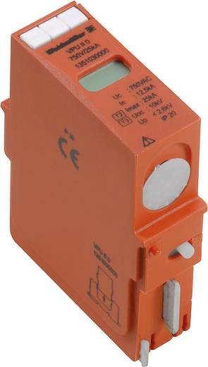 Überspannungsschutz-Ableiter steckbar Überspannungsschutz für: Verteilerschrank Weidmüller VPU II 0 75V/40kA 1350530000 15 kA