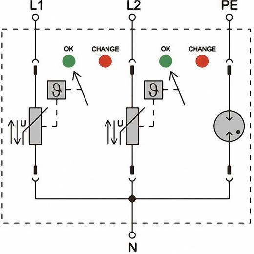 Verteilerschrank-Überspannungsschutz Überspannungsschutz für: Photovoltaik-Anlage Weidmüller VPU II 3 PV 1200VDC 1351420000 20 kA