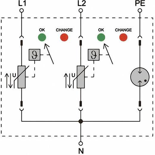 Verteilerschrank-Überspannungsschutz Überspannungsschutz für: Photovoltaik-Anlage Weidmüller VPU II 3 R PV 1200V DC 135