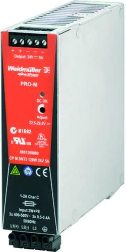 Síťový zdroj na DIN lištu Weidmüller CP M SNT3 120W 24V 5A, 1 x, 24 V/DC, 5 A, 120 W
