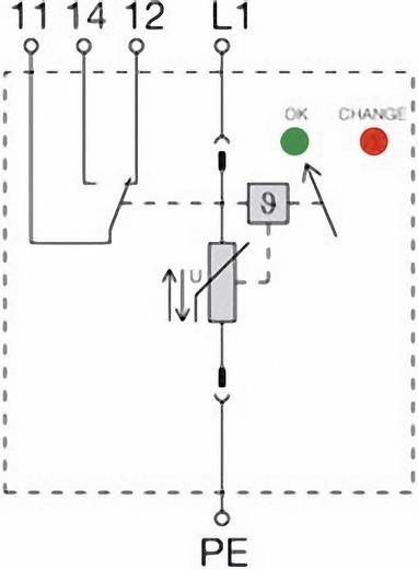 Überspannungsschutz-Ableiter Überspannungsschutz für: Verteilerschrank Weidmüller VPU II 1 R 750V / 40kA 1351050000 12.