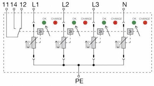 Überspannungsschutz-Ableiter Überspannungsschutz für: Verteilerschrank Weidmüller VPU II 4 R 750 / 40kA 1351130000 12.5