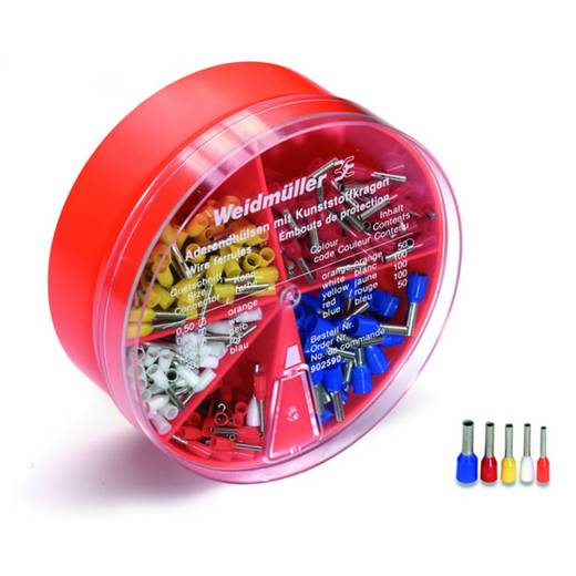 Aderendhülsen-Sortiment 0.50 mm² 2.50 mm² Orange, Weiß, Gelb, Rot, Blau Weidmüller 9025900000 400 St.