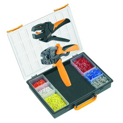 Crimpzangen-Set Aderendhülsen 0.5 bis 4 mm² Inkl. Abisolierzange, Inkl. Crimpsortiment mit Koffer Weidmüller CRIMP-SET PZ 4 D 9028630000