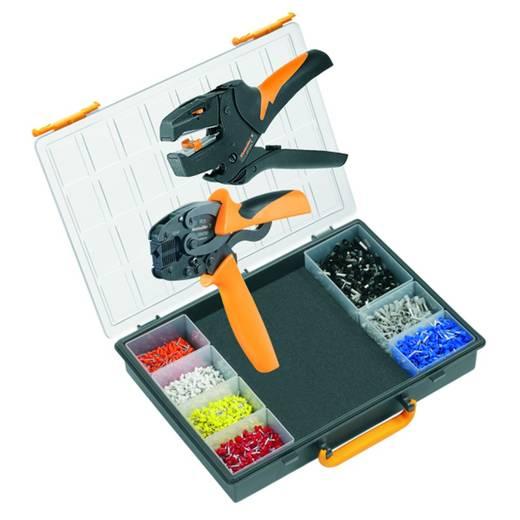 Crimpzangen-Set Aderendhülsen 0.5 bis 6 mm² Inkl. Abisolierzange, Inkl. Crimpsortiment mit Koffer Weidmüller CRIMP-SET PZ 3 9028650000
