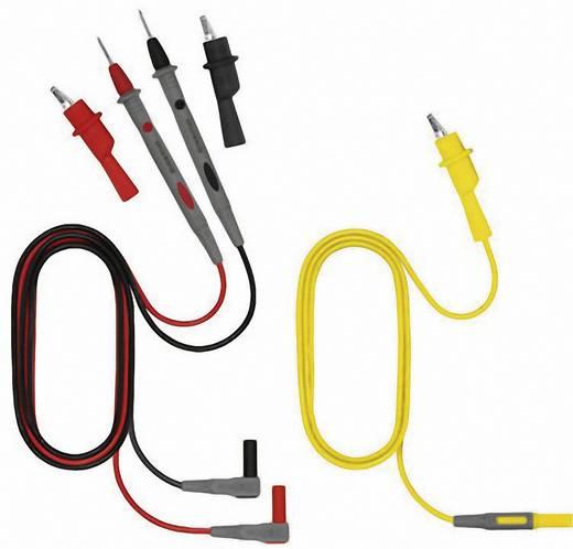 Sicherheits-Messleitungs-Set [ Lamellenstecker 4 mm - Abgreifklemmen, Prüfspitze] 1 m Weidmüller ZUB TEMPHASER