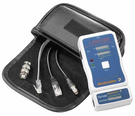 Weidmüller Testeur USB LAN Netzwerk-Kabelprüfgerät, Kabeltester Geeignet für LAN, USB