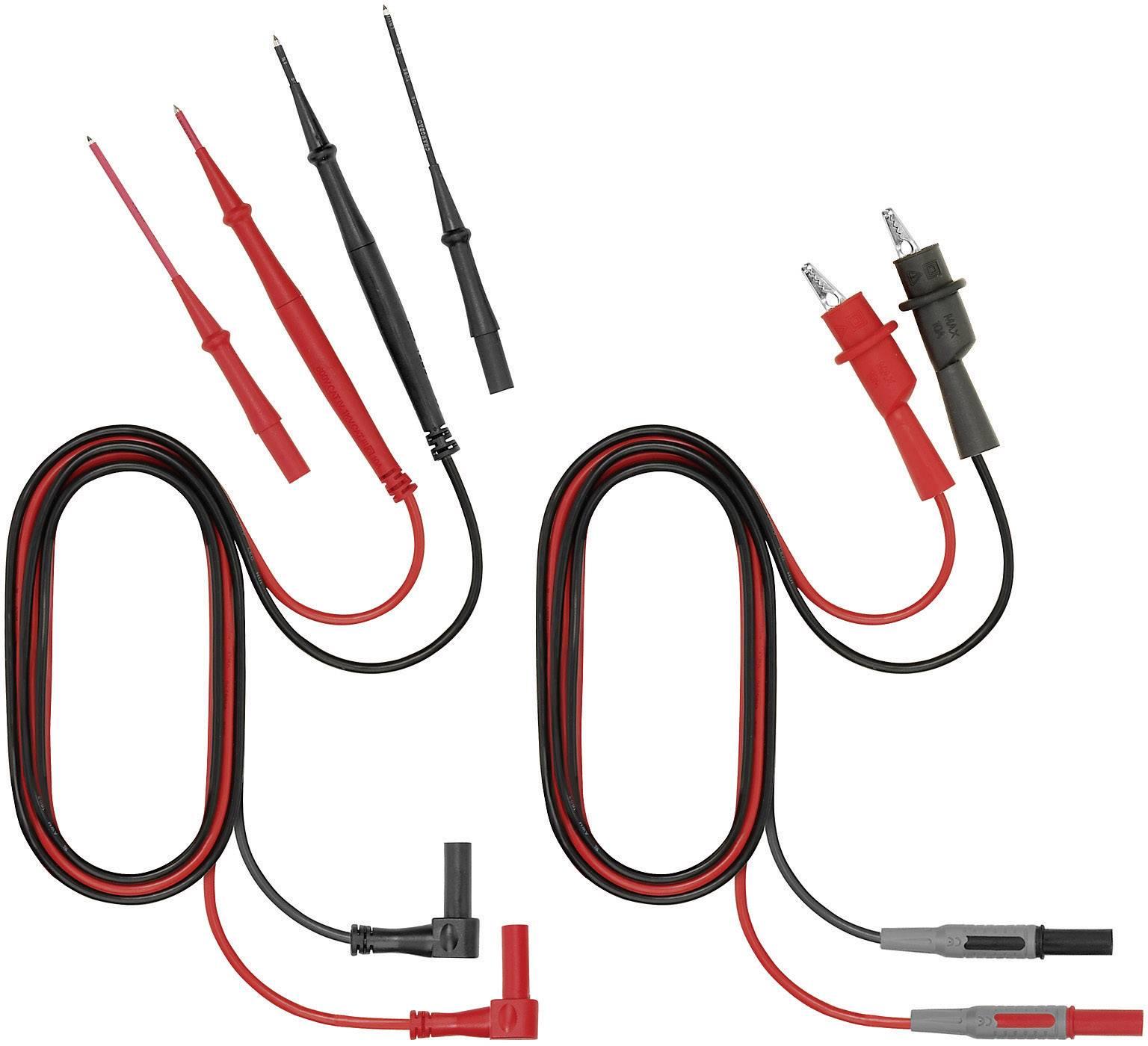Benning 044119 Sicherheits-Messleitungs-Set Lamellenstecker 4mm - Pr/üfspitze 1m Schwarz
