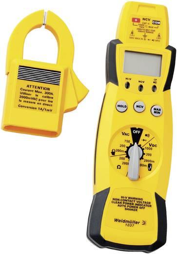 Stromzange, Hand-Multimeter digital Weidmüller MULTIMETER 1037 Kalibriert nach: Werksstandard CAT III 1000 V Anzeige (C