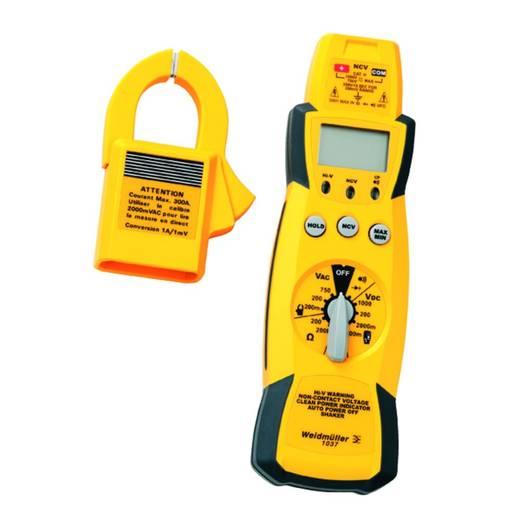 Stromzange, Hand-Multimeter digital Weidmüller 1037 Kalibriert nach: Werksstandard CAT III 1000 V Anzeige (Counts): 200