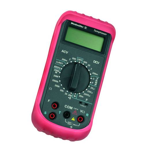 Weidmüller TEMPHASER Hand-Multimeter digital Kalibriert nach: Werksstandard (ohne Zertifikat) CAT III 600 V Anzeige (Co