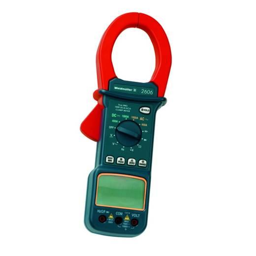 Stromzange, Hand-Multimeter digital Weidmüller MULTIMETER C 2606 Kalibriert nach: Werksstandard CAT III 1000 V Anzeige