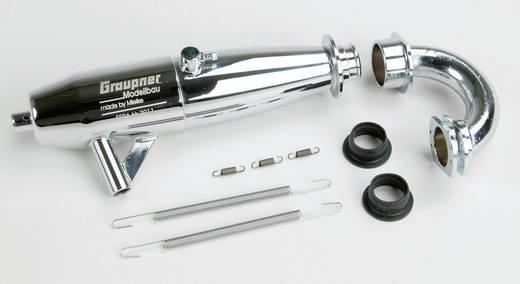 1:8 Schalldämpfer-Krümmer-Set Silber poliert Passend für: 3,5 cm³ Nitromotoren Graupner
