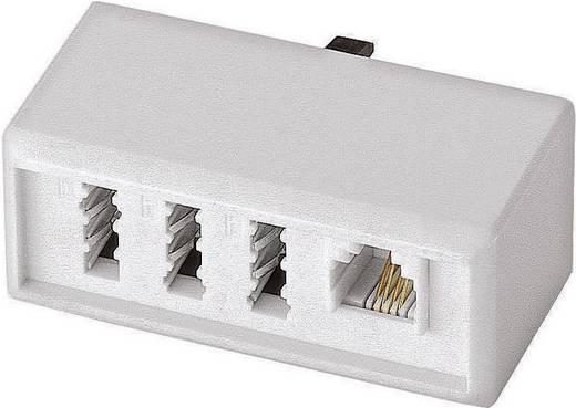 Telefon (analog) Adapter [1x TAE-NFF-Buchse, RJ11-Buchse 6p4c - 1x TAE-F-Stecker] 0 m Weiß