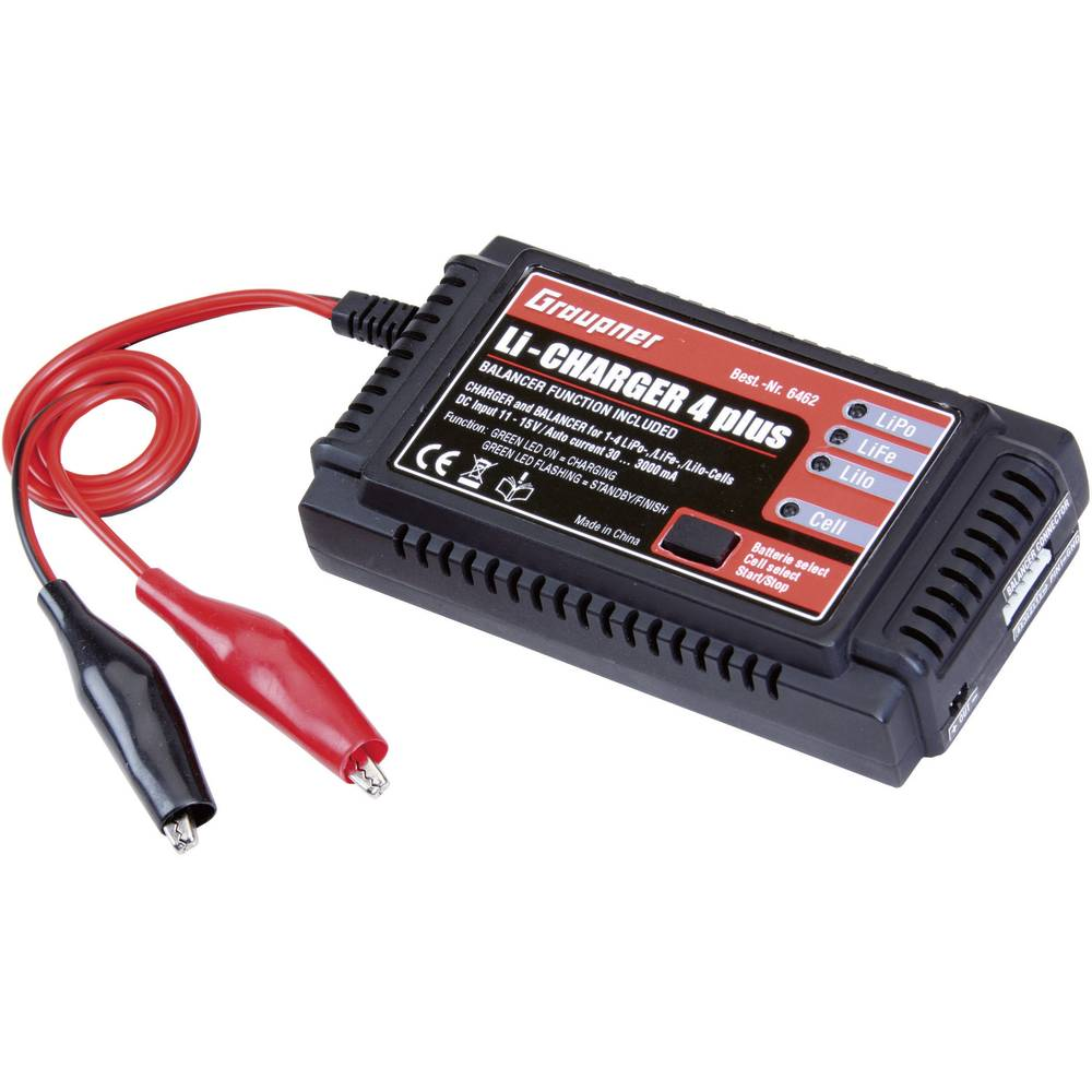 scale model battery charger 12 v 3 a graupner li charger 4 plus from. Black Bedroom Furniture Sets. Home Design Ideas