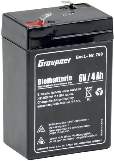 Modellbau-Akku (Blei) 6 V 4 Ah Graupner Block Flachstecker