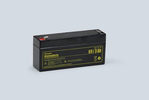 Modellbau-Akku (Blei) 6 V 3 Ah Graupner Block Flachstecker