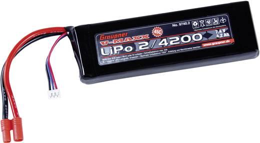 Graupner Modellbau-Akkupack (LiPo) 7.4 V 4200 mAh Zellen-Zahl: 2 45 C Stick G3.5