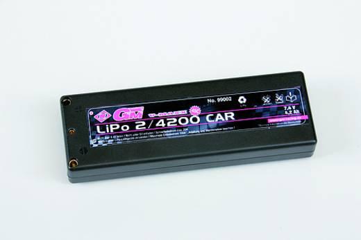 Modellbau-Akkupack (LiPo) 7.4 V 4200 mAh Zellen-Zahl: 2 45 C Graupner Hardcase G3.5, 4 mm