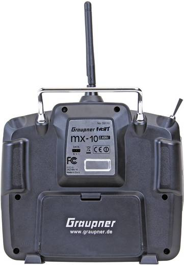 Graupner mx-10 Hott Hand-Fernsteuerung 2,4 GHz Anzahl Kanäle: 5 inkl. Empfänger
