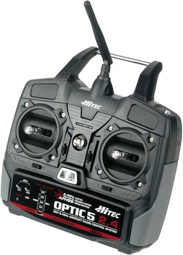 Hitec Optic 5 2.4 GHz Hand-Fernsteuerung 2,4 GHz Anzahl Kanäle: 5 inkl. Empfänger