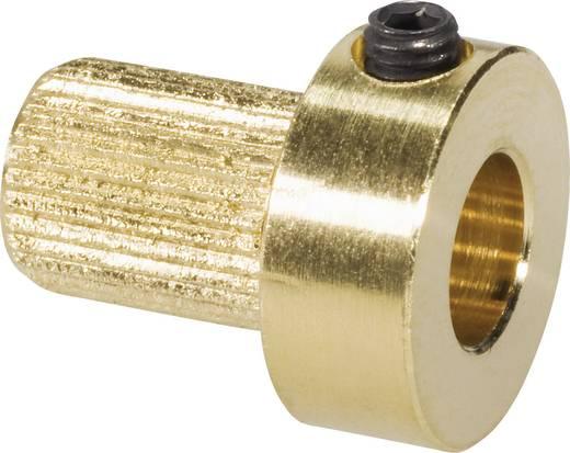 Messing Kupplungs-Einsatzstück Bohrungs-Ø: 6 mm (Ø x L) 13 mm x 15 mm