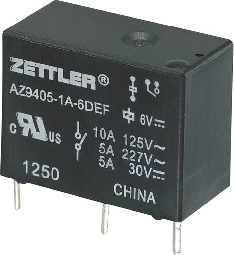 Printrelais 9 V/DC 10 A 1 Schließer Zettler Electronics AZ9405-1A-9DEF 1 St.