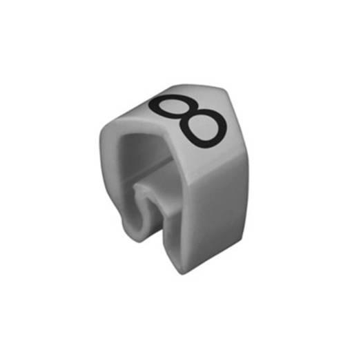 Kennzeichnungsring Aufdruck 8 Außendurchmesser-Bereich 4 bis 10 mm 0251311527 CLI C 2-4 gr/zw 8 MP Weidmüller