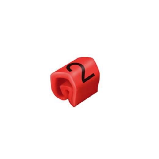 Kennzeichnungsring Aufdruck 2 Außendurchmesser-Bereich 1 bis 3 mm 0252111509 CLI C 02-3 RT/SW 2 MP Weidmüller