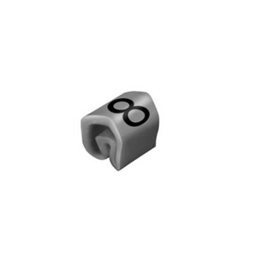 Kennzeichnungsring Aufdruck 8 Außendurchmesser-Bereich 1 bis 3 mm 0252111527 CLI C 02-3 GR/ZW 8 MP Weidmüller