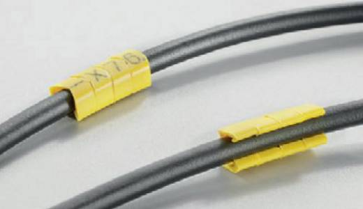 Kennzeichnungsclip Aufdruck J Außendurchmesser-Bereich 4 bis 5 mm 0648201655 CLI O 30-3 GE/SW J MP Weidmüller
