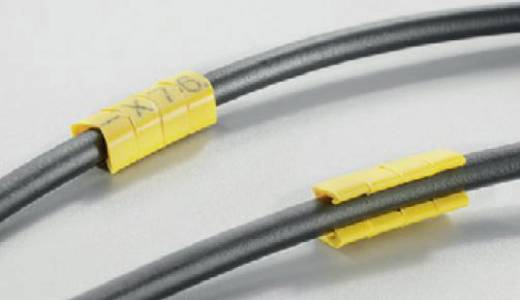Kennzeichnungsclip Aufdruck M Außendurchmesser-Bereich 4 bis 5 mm 0648201661 CLI O 30-3 GE/SW M MP Weidmüller