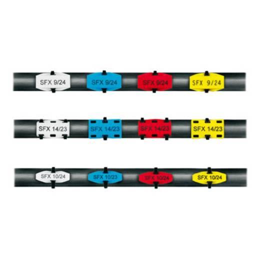 Leitermarkierer Montageart: Kabelbinder Beschriftungsfläche: 23.50 x 5 mm Passend für Serie Einzeldrähte, Universaleinsatz Grau Weidmüller SFX 10/23 NE GR V2 1000380000 Anzahl Markierer: 160 160 St.