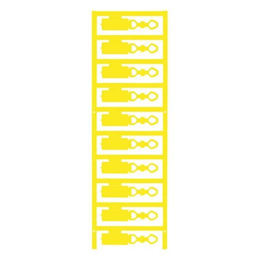 Leitermarkierer Montage-Art: aufclipsen Beschriftungsfläche: 27 x 12 mm Passend für Serie Einzeldrähte Gelb Weidmüller D