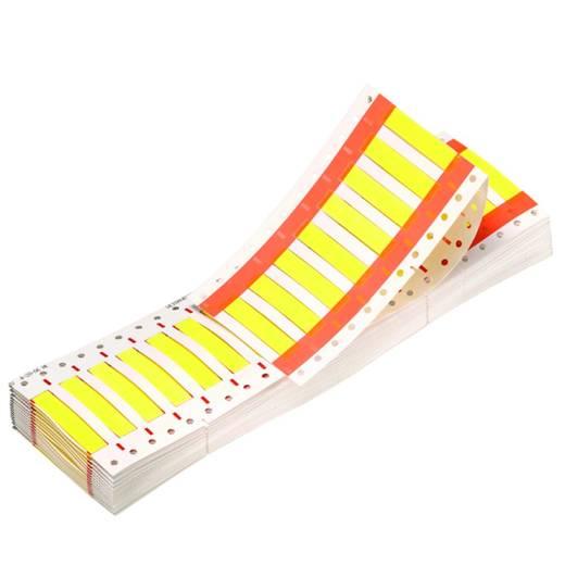 """Schrumpfschlauchmarkierer Montageart: aufschieben Beschriftungsfläche: 25.4 x 25.4 mm Passend für Serie Einzeldrähte Gelb Weidmüller HSS3/16""""1,6-3,8/25Y 1029870000 Anzahl Markierer: 1000 1000 St."""