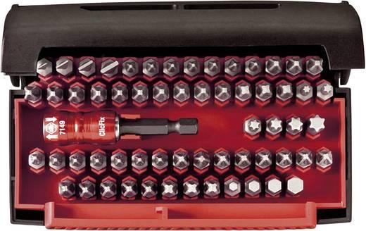 Bit-Set 61teilig Wiha Bit Collector 07943 Schlitz, Kreuzschlitz Phillips, Kreuzschlitz Pozidriv, Innen-Sechskant, Innen-