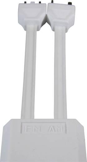Antennen Anschlusskabel [1x Antennenstecker 75 Ω - 1x Antennenbuchse 75 Ω] 1.50 m 75 dB Weiß