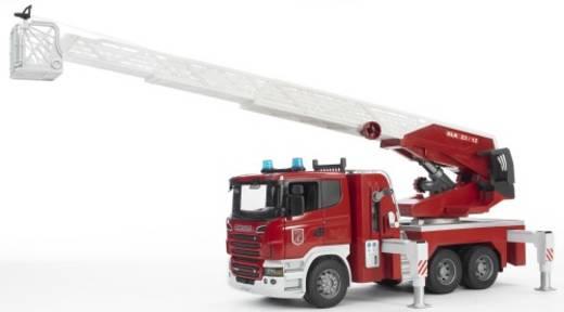 Bruder Scania Feuerwehrleiterwagen mit Licht und Sound Modulen 3590